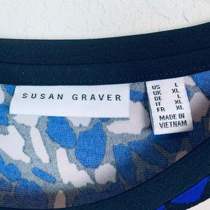 Susan Graver Tops - SUSAN GRAVER womens sz Large lace up blouse